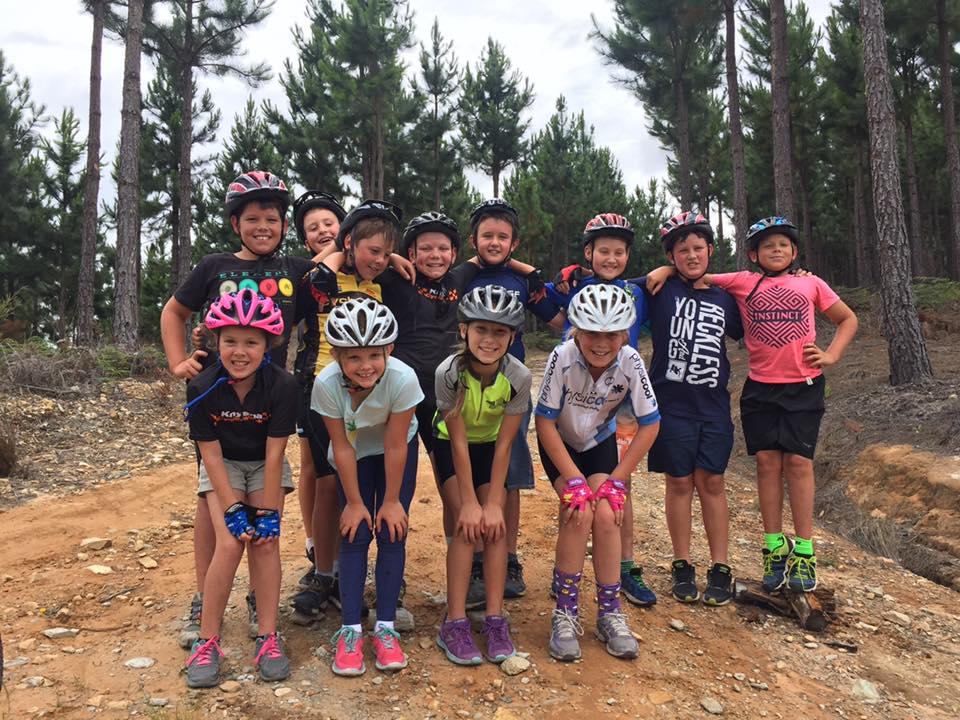 kids in the cycling academy knysna
